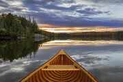 """Canoe at Sunset"""
