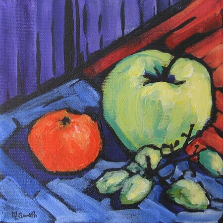 Fruit and Vegetable Series 2 - acrylic 6x6