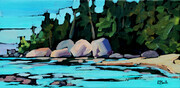 """Awenda Beach"" plein air"