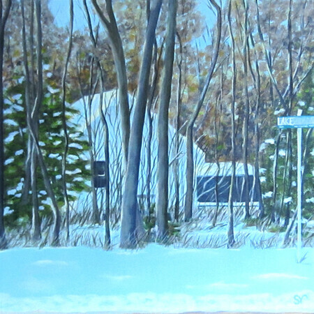 """Lakeshore Road, Winter"""